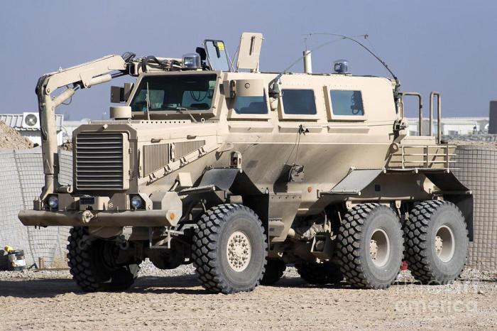 uffalo — автомобиль с противоминной защитой.