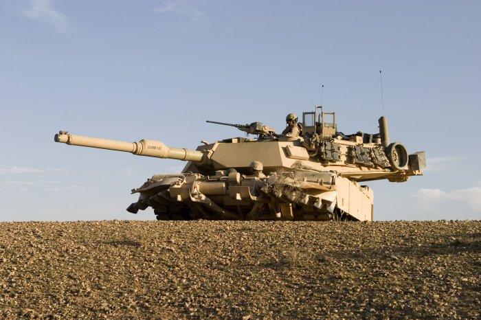 Танк третьего поколения M1 Abrams.