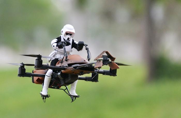 Летающие дроны из звёздных войн.
