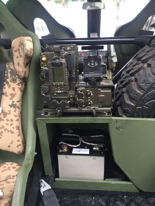 Военное оснащение в комплекте.