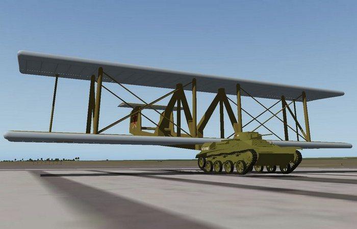 Советский биплан Антонов А-40.