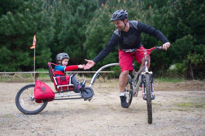 Велосипедная прицеп-коляска для самых маленьких.