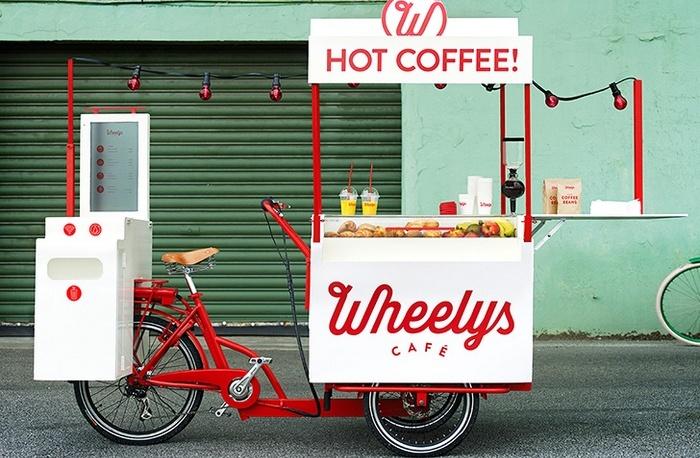 Мини-кафе на велосипеде.