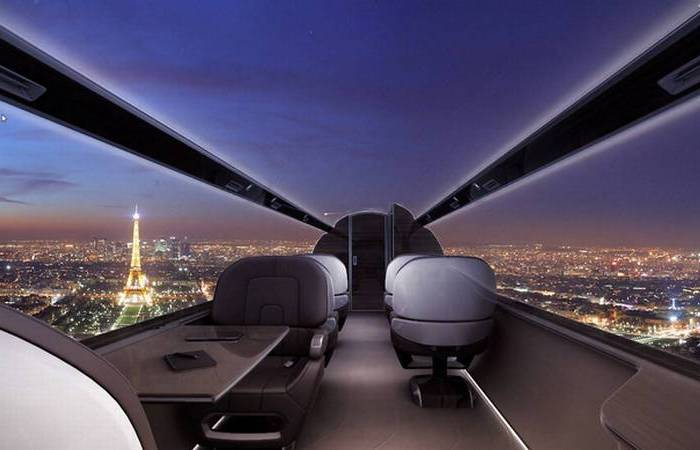 Прозрачный самолёт IXION Windowless Jet.