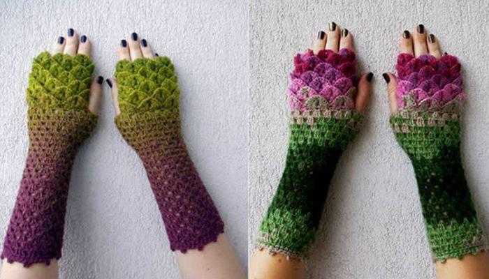 Зимний прикол: драконьи перчатки.