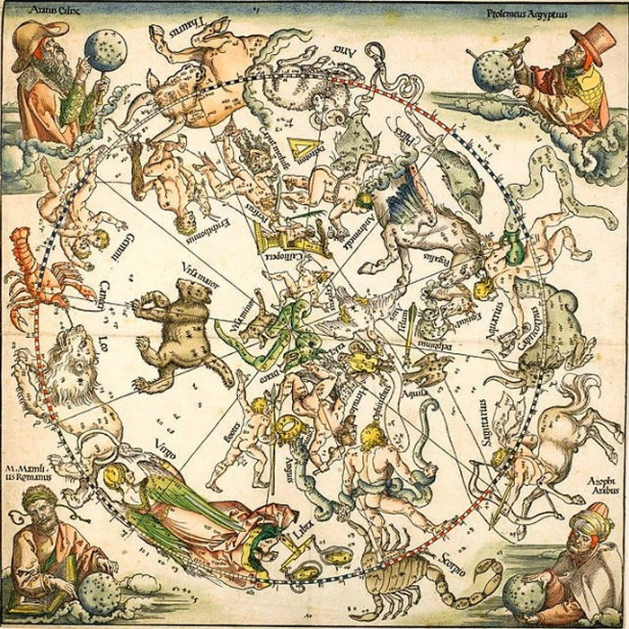 Зодиакальные гравюры на дереве Дюрера.
