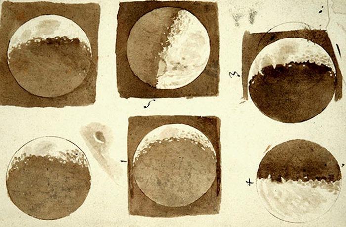 Первые точные изображения Луны.