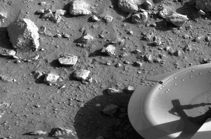 Первое изображение с Марса.