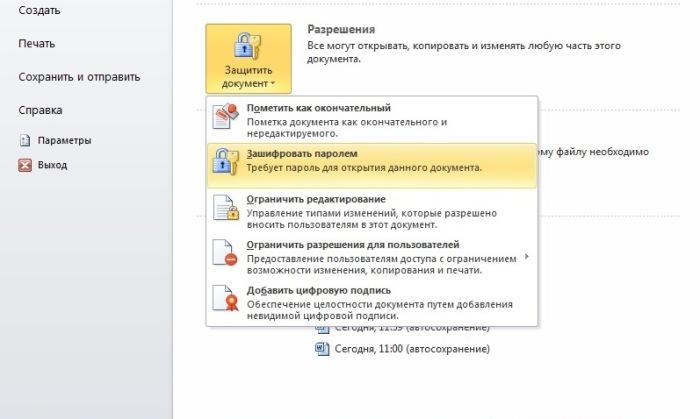 Если нужна защита документа. |Фото: novate.ru.