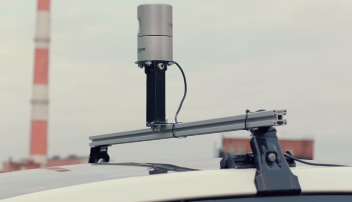 Сканер на крыше.