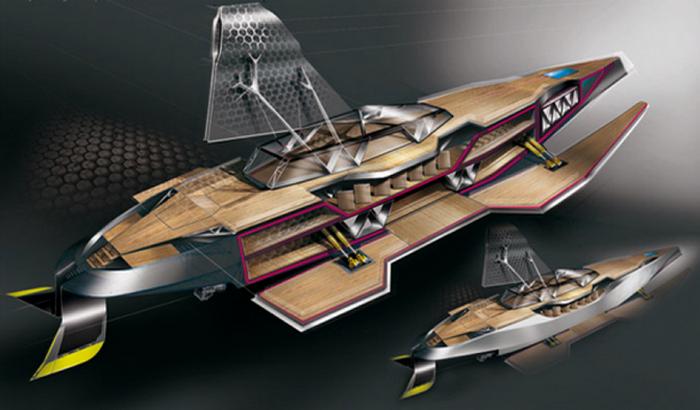 Концептуальная яхта Transformer.