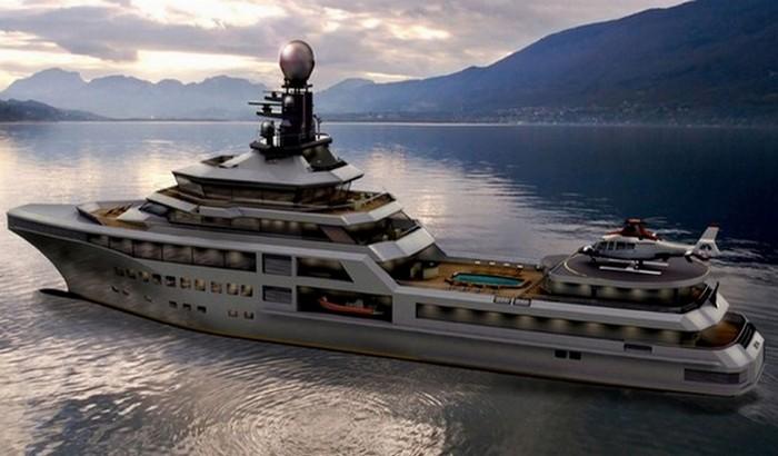 Яхта гигант PJ World Yacht.