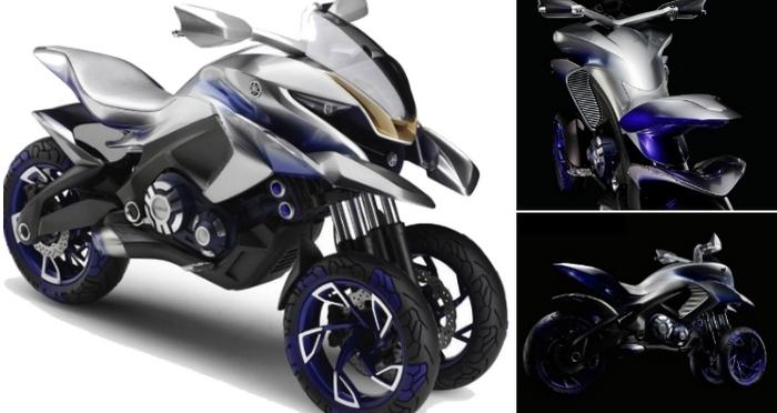 Концепт трицикла 01GEN - дизайнерский эксперимент Yamaha.