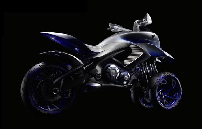 Концепт Yamaha 01GEN - первый в линейке агрессивных трициклов.