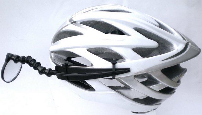 Велосипедный гаджет: зеркало заднего вида.