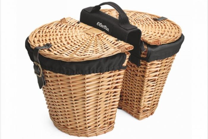 Велосипедный гаджет: Electra Wicker Front Basket.