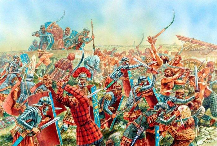 Римлян это оружие очень удивило. |Фото: pinterest.dk.