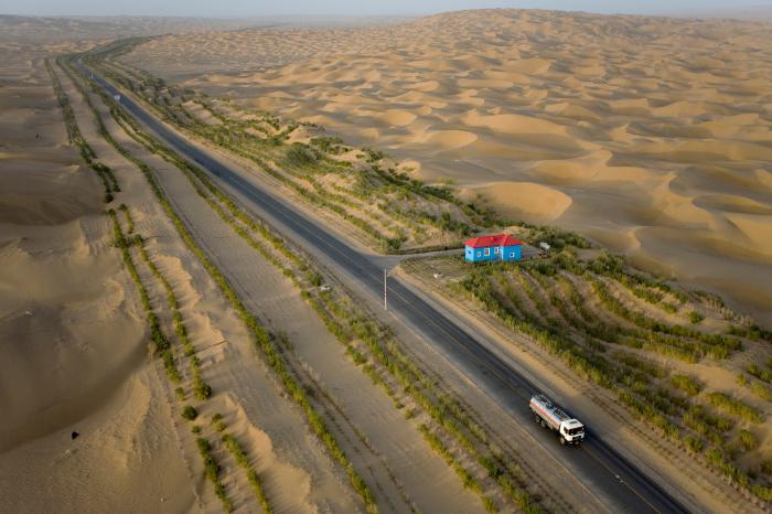 Вокруг дороги производится озеленение. |Фото: pinterest.com.