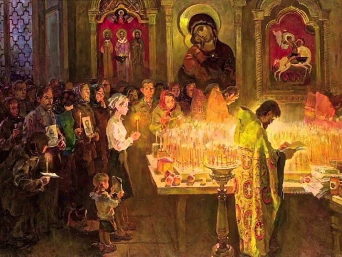 Золото, благовония и хор помогали превратить храм в уголок рая на земле. |Фото: hristos-voskrese.ru.