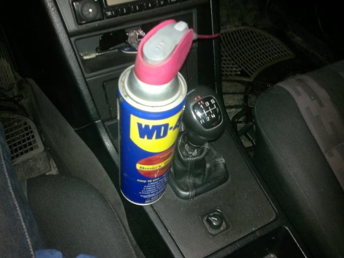 Используем WD-40 для замка зажигания. |Фото: drive2.com.