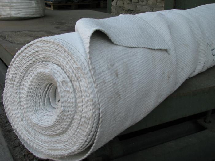 Суть в подходящей асбестовой ткани.