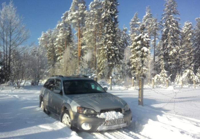 Subaru Outback - автомобиль для дальних зимних поездок.