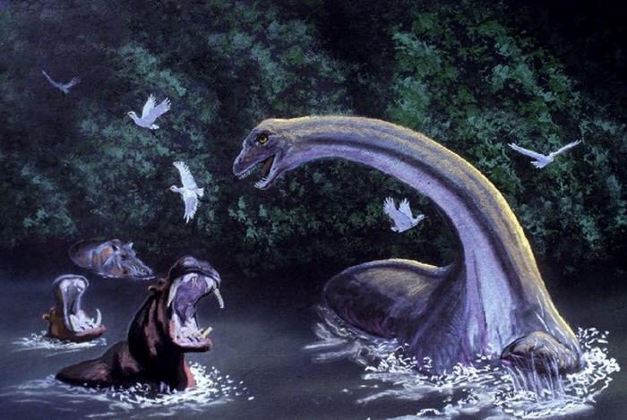 Полудракон-полуслон Мокеле-Мбембе