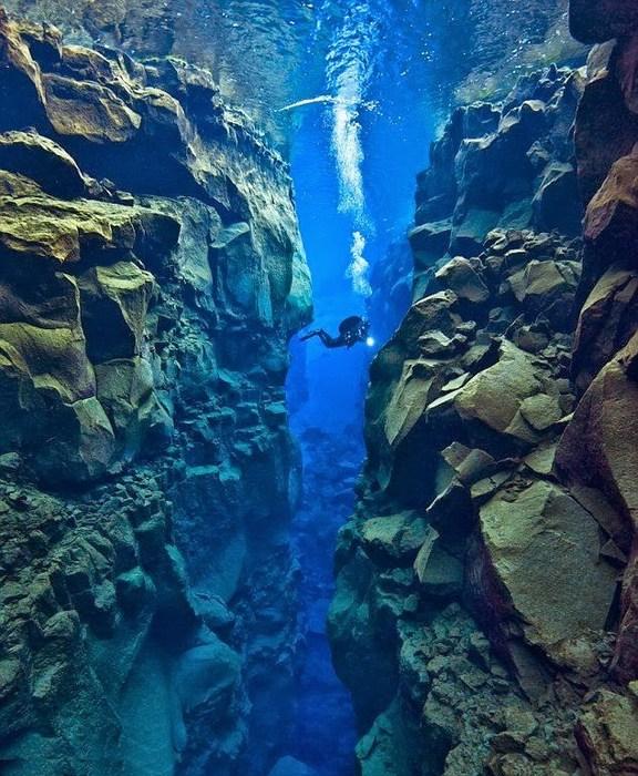 Тектоническая расщелина между Северной Америкой и Евразией.