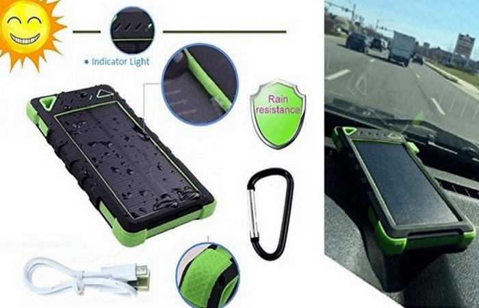 PocketFuel — пауэррбанк с панелью солнечных батарей.