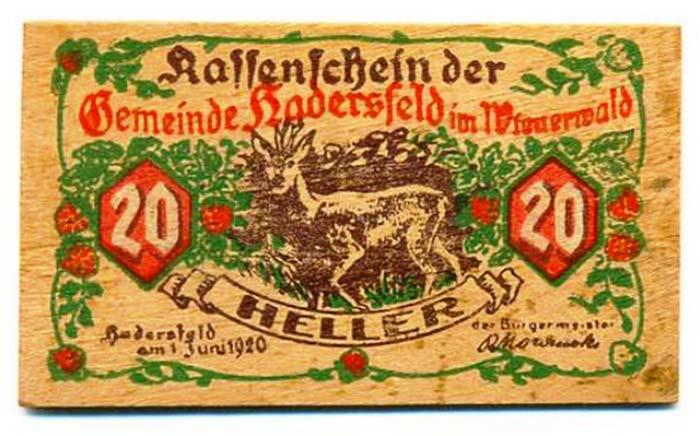 Деревянная банкнота.