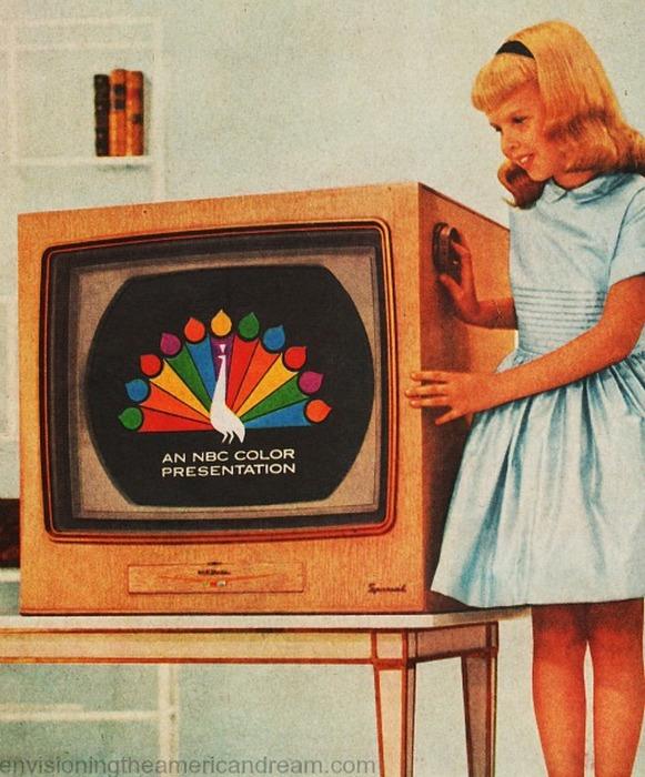 Цветной телевизор.