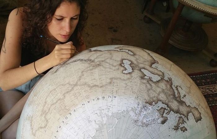 Последний в мире глобус ручной работы и другие исчезающие вещи.