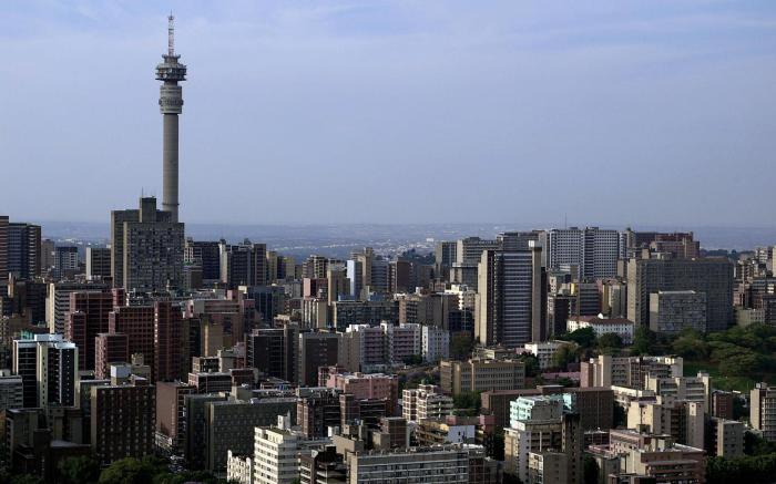 Йоханнесбург - финансовый цент Африки.