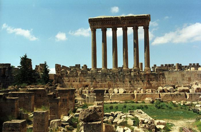 Баальбек в современном Ливане.