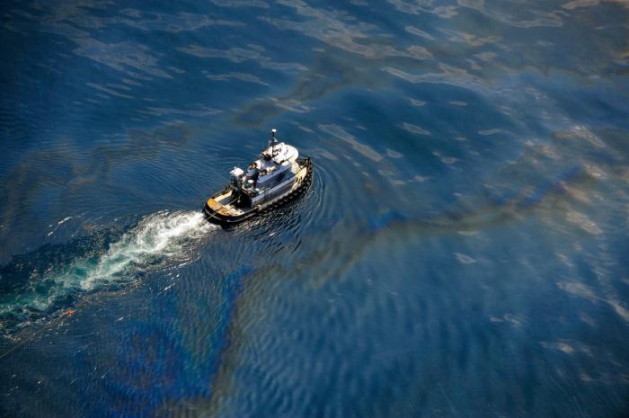 Разлив нефти в Мексиканском заливе.