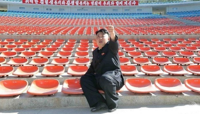 Ким Чен Ын - лидер Северной Кореи.