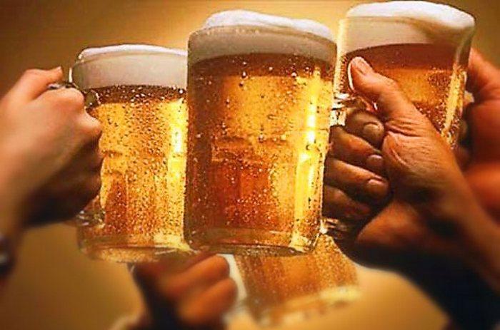 Любители пива: 54% мужчин и 27% женщин.