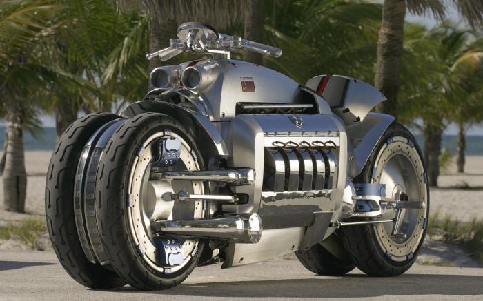 Роскошный байк Dodge Tomahawk V10 Superbike.