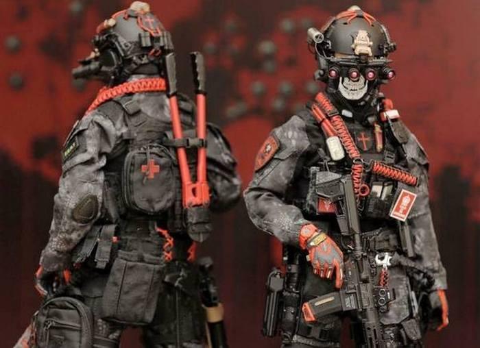 Милитаризированные солдатики.