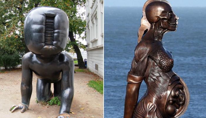 Самые пугающие скульптуры.