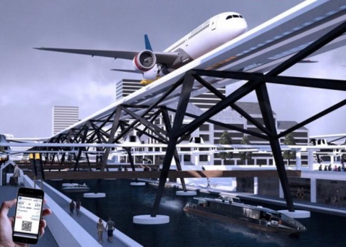 Аэропорт будущего на крыше.