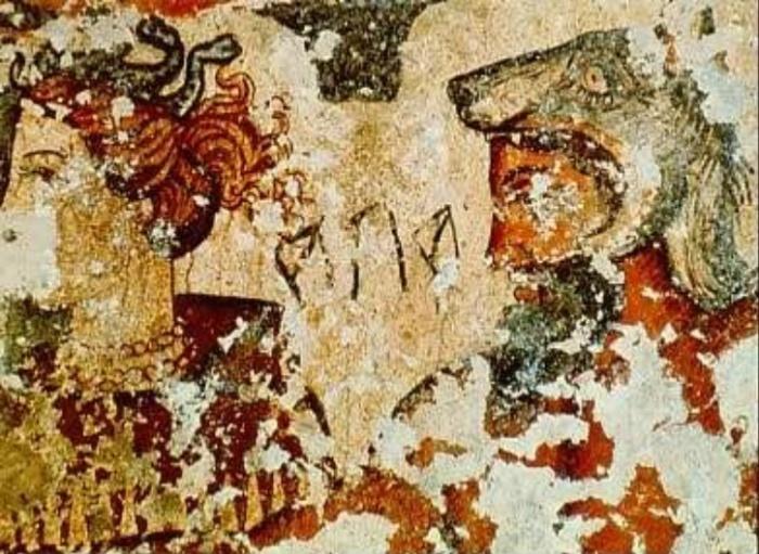Айта - этрусский демон с головой волка.
