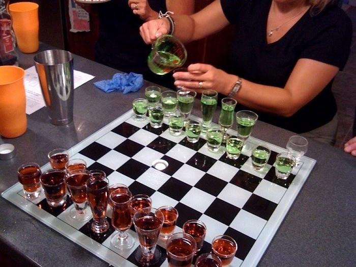Пьяные шахматы.