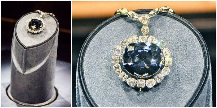 Причудливый темный серо-голубой бриллиант.