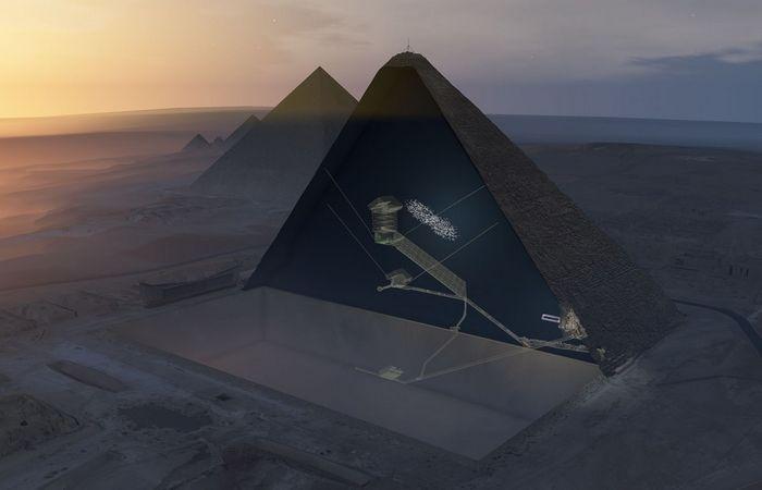 Древняя конструкция: полость в Великой пирамиде.