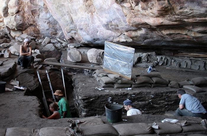 Место раскопок, во время которых были найдены рисунки на скорлупе.