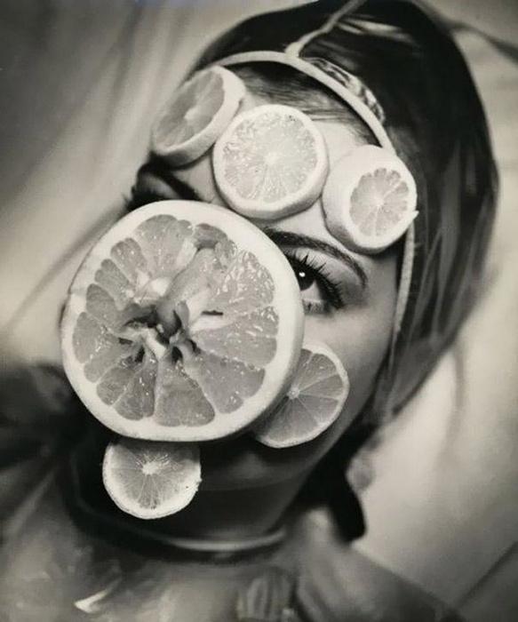 Маска из лимонов.