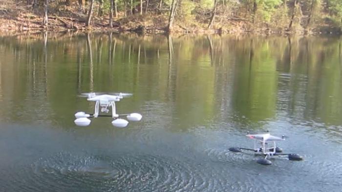 WaterStrider - мягкая посадка для беспилотника.
