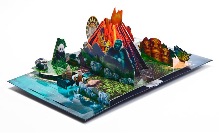 Брошюра с рекламой 3D-игр.