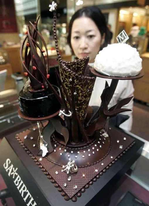 Алмазный шоколадный торт.